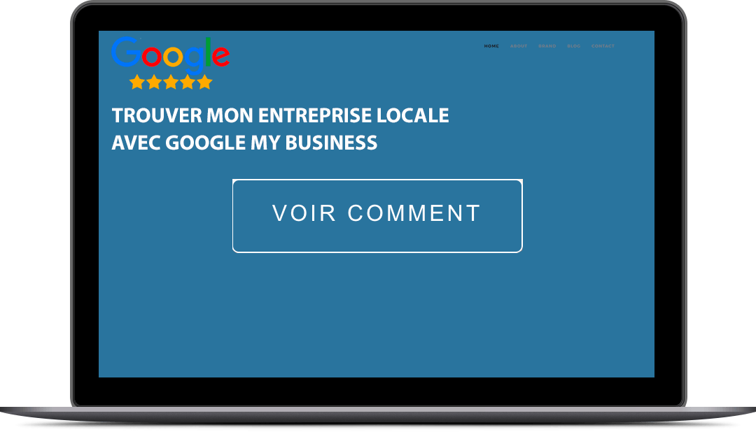 ecran d'ordinateur mac avec google my business
